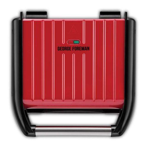 George Foreman 25040-56 Steel családi piros grill